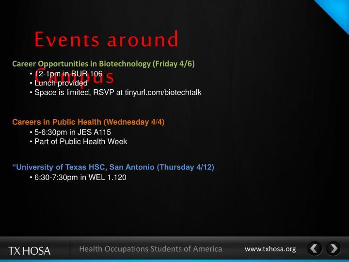 Events around Campus