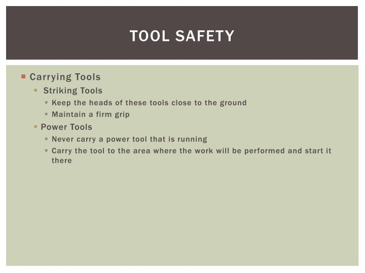 TOOL SAFETY