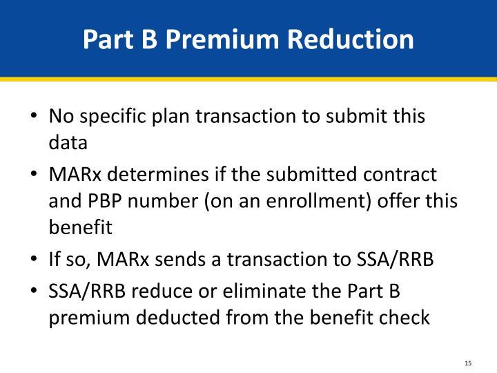 Part B Premium Reduction