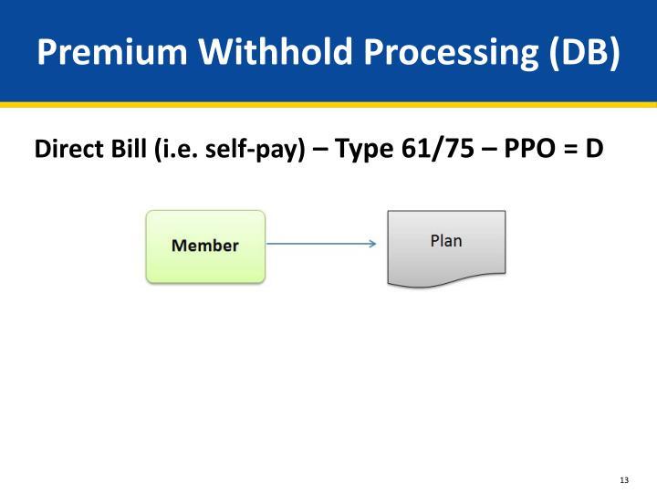 Premium Withhold Processing (DB)