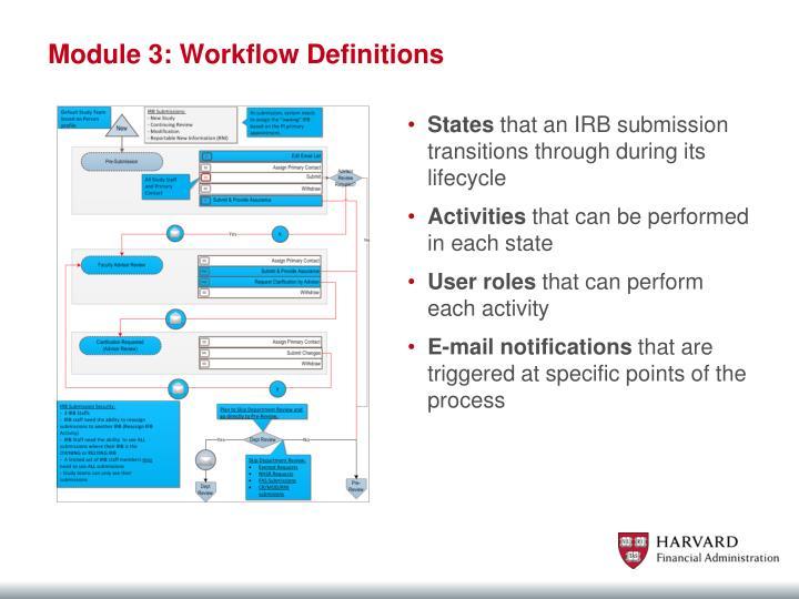 Module 3: Workflow Definitions
