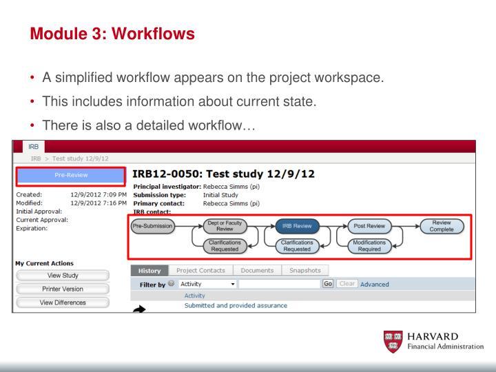 Module 3: Workflows