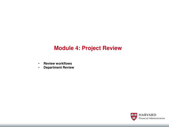 Module 4: Project Review