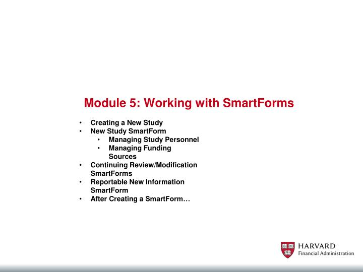 Module 5: Working with