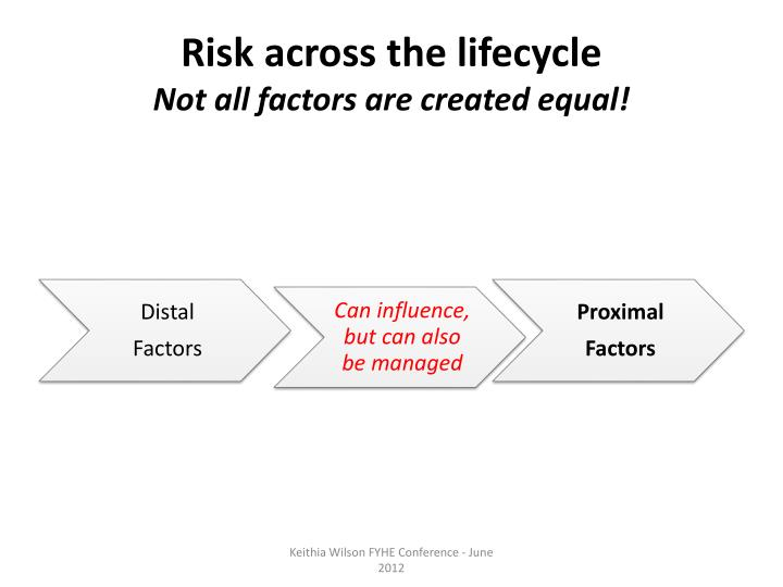 Risk across the lifecycle