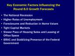 key economic factors influencing the round 8 0 growth forecasts