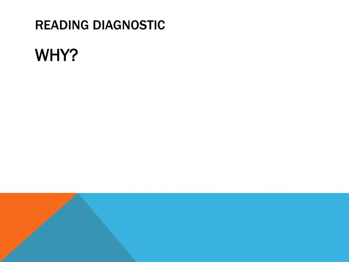 Reading diagnostic
