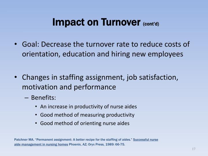 Impact on Turnover