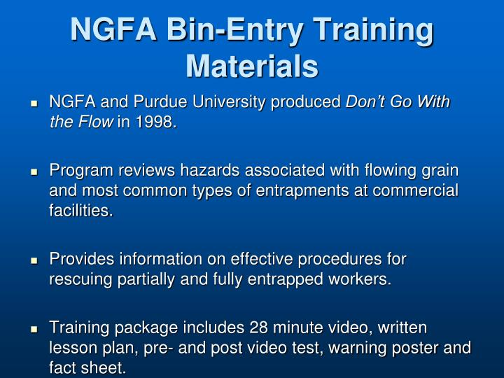 NGFA Bin-Entry Training Materials
