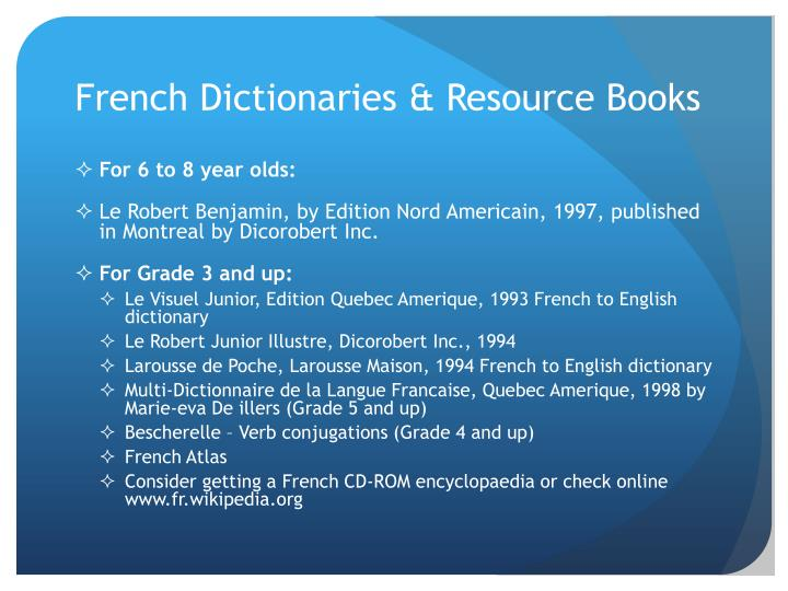 French Dictionaries & Resource Books
