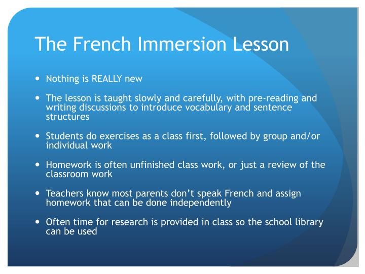 The French Immersion Lesson