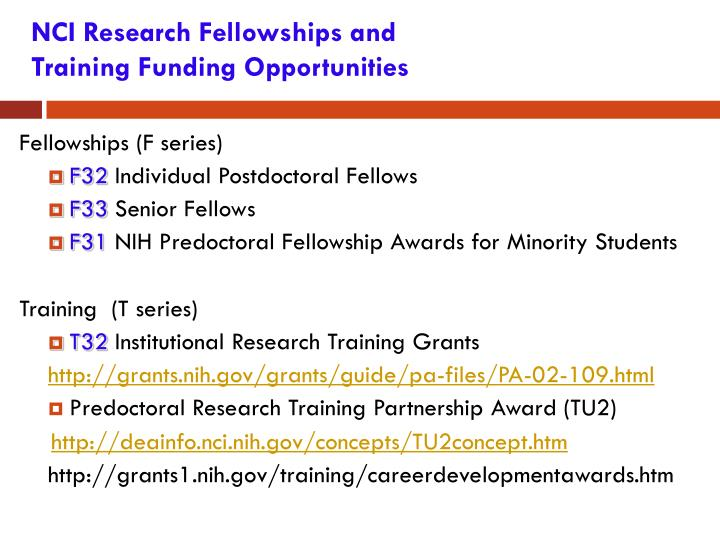 NCI Research Fellowships and