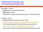 nci research fellowships and training funding opportunities