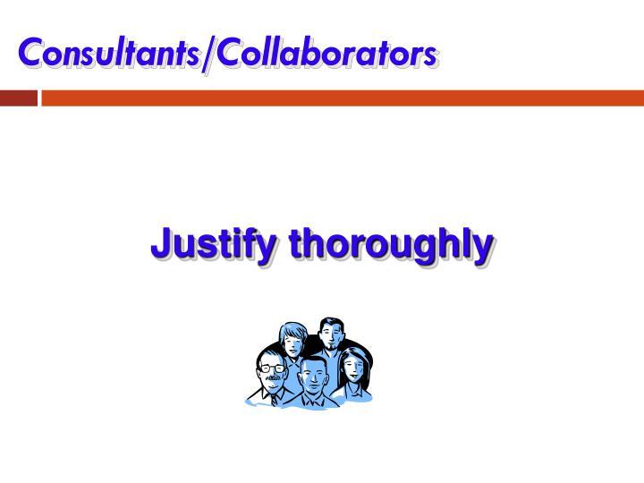 Consultants/Collaborators