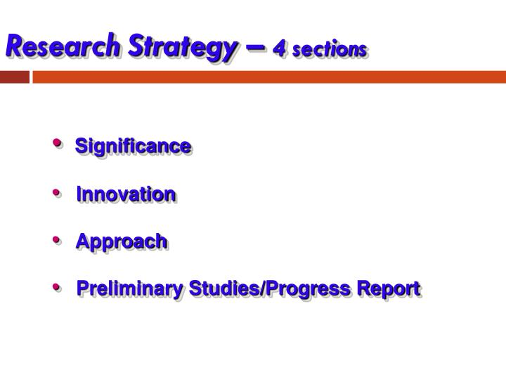 Research Strategy –