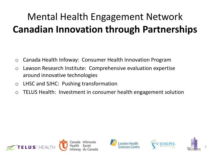 Mental health engagement network canadian innovation through partnerships