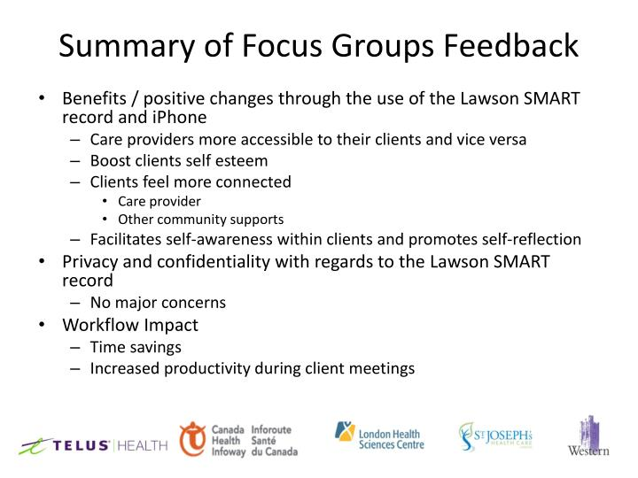 Summary of Focus Groups Feedback