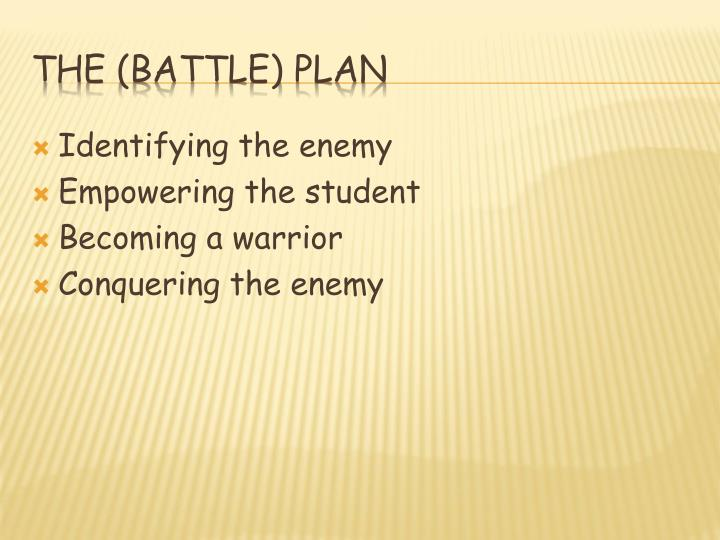 Identifying the enemy
