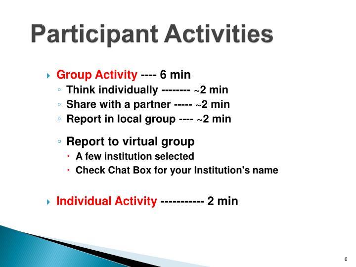 Participant Activities