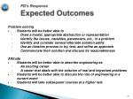 pd s response expected outcomes