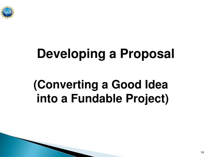 Developing a Proposal