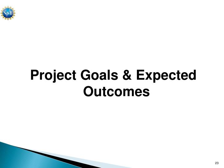 Project Goals & Expected Outcomes