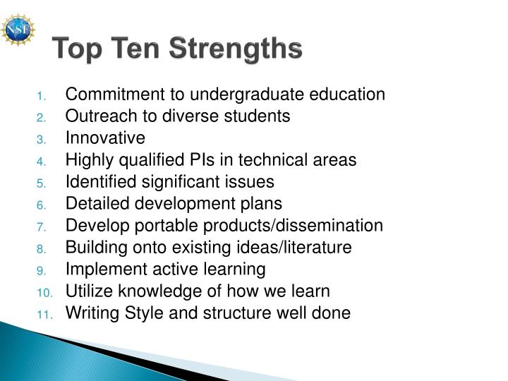 Top Ten Strengths