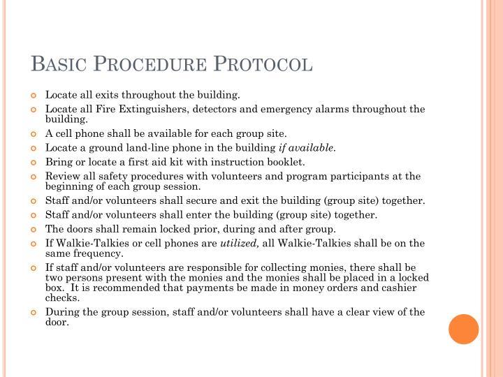 Basic Procedure Protocol