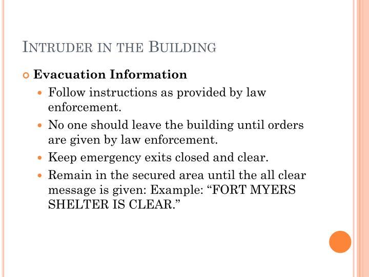 Intruder in the Building