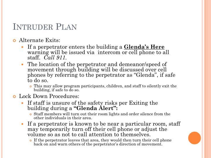Intruder Plan