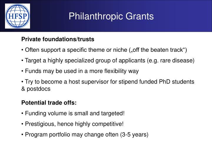 Philanthropic Grants