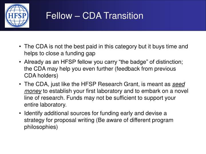 Fellow – CDA Transition