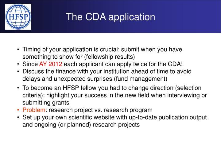 The CDA application
