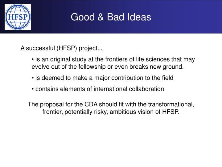 Good & Bad Ideas