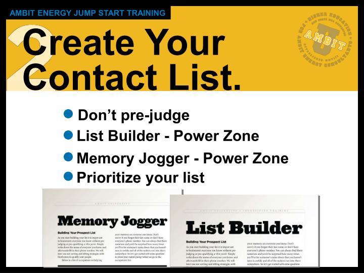 List Builder - Power Zone