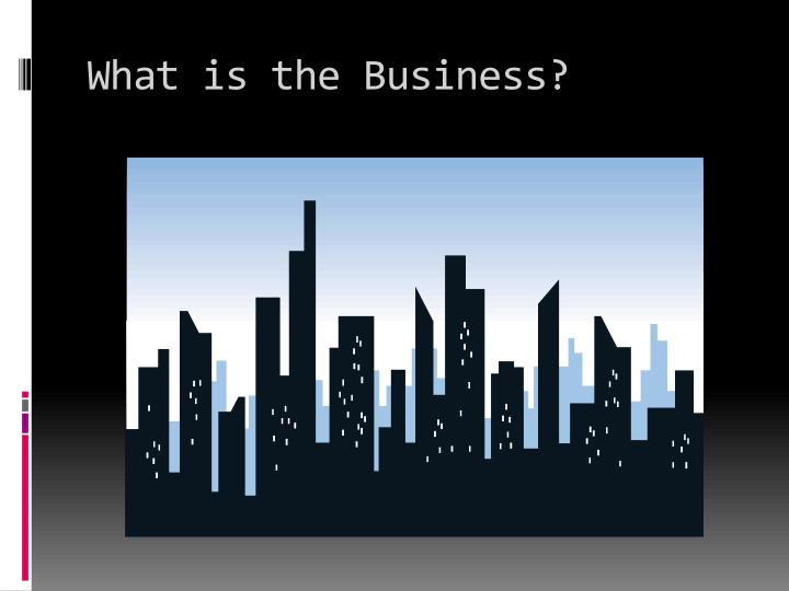 What is the Business?