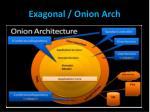 exagonal onion arch