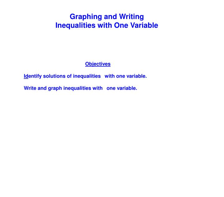 Graphing and Writing