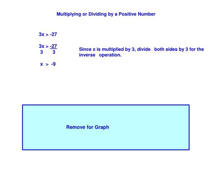 Multiplying or Dividing by a Positive Number