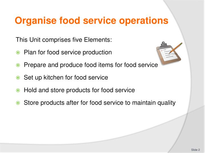 Food service operation ppt