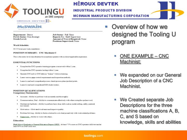 Overview of how we designed the Tooling U program