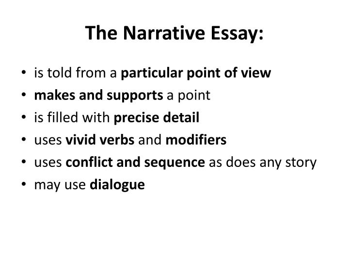 The Narrative Essay:
