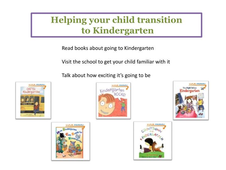 Helping your child transition