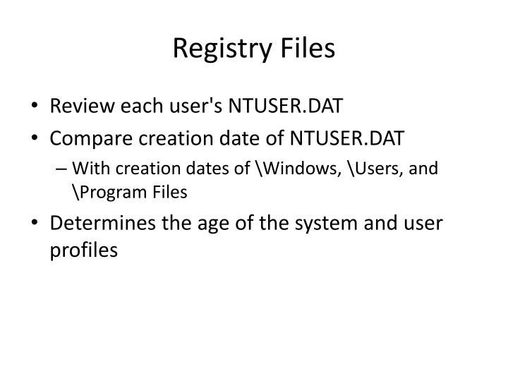 Registry Files