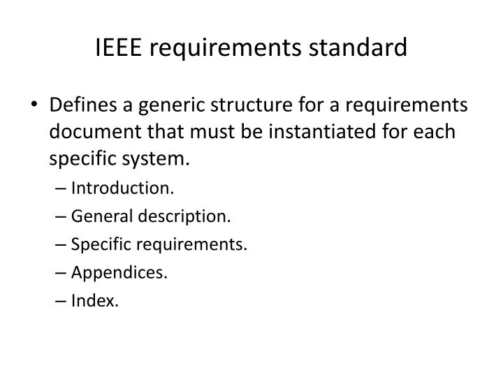 IEEE requirements standard