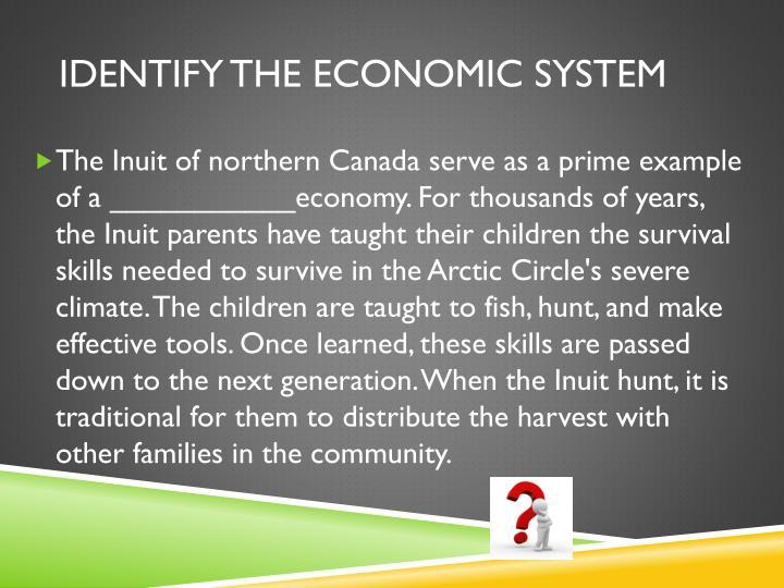 Identify the economic System