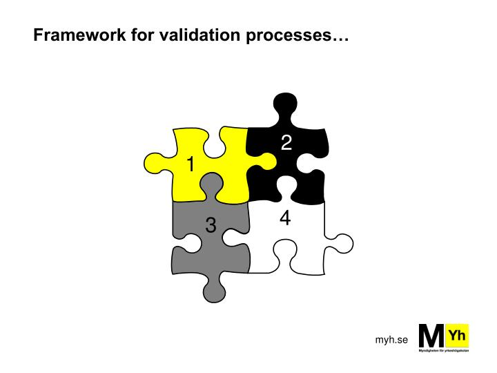 Framework for validation processes…