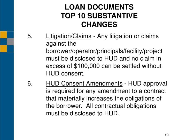LOAN DOCUMENTS