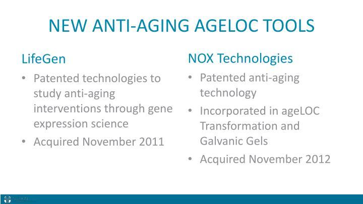 NEW ANTI-AGING AGELOC TOOLS