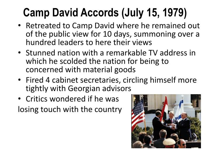 Camp David Accords (July 15, 1979)